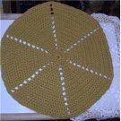 16 1/2 inch round hot pad-doily-tea cozy - handmade crochet