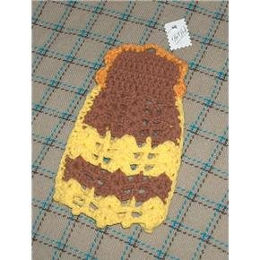 hand crocheted decorative hot pad or DRESS up your dish soap