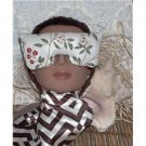 Cherries print eye mask pillow - stretch strap - relax with lavender