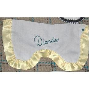 Hand-Sewn washable eye mask liner - cotton with yellow satin