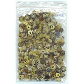 2 oz mostly tan-brown marbled vintage buttons -sewing crafts