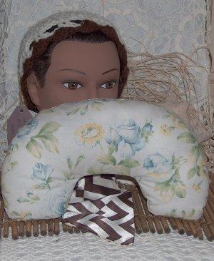 Neck pillow - travel pillow in Blue Roses... design
