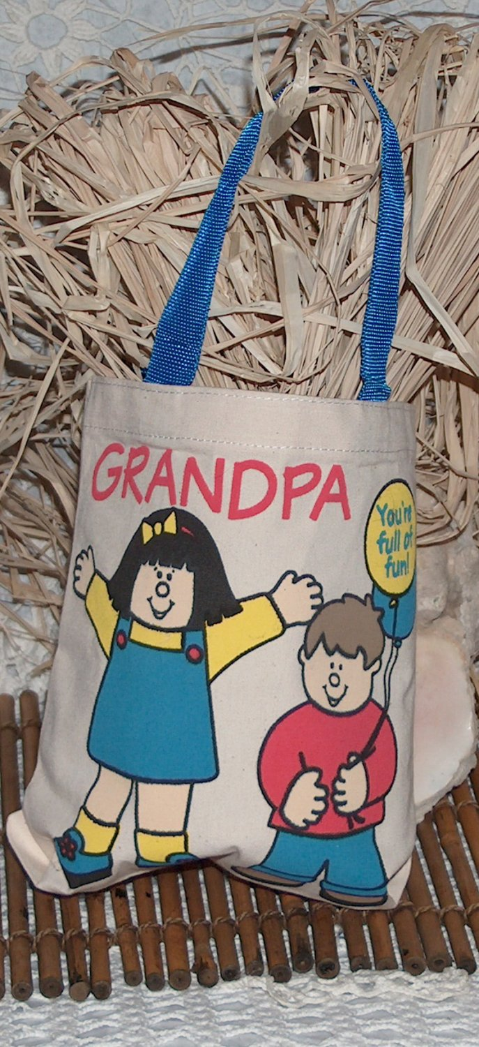 8x8 canvas Tote bag as a gift bag or for everyday - Grandpa
