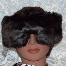 dark brown faux fur eye mask-pillow and dream herbs inside