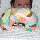multi color Neck pillow -travel pillow vintage cotton fabric