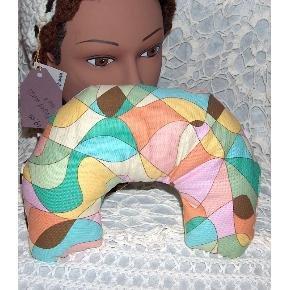 multi color Neck pillow  small-travel pillow vintage cotton fabric