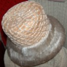 Made in Italy vintage straw hat with net cover and soft fringe