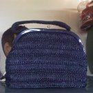 Vintage straw or raffia handbag made by garay of New York City