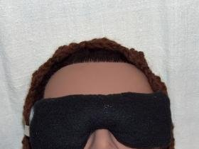 Lavender scent black and white eye pillow mask - small size