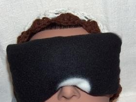 Real Lavender scent black and white eye pillow mask