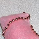 Pink sachet with real roses inside - beaded detail