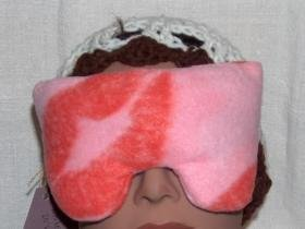 Sealed with a Kiss - Real roses scented pink eye pillow mask