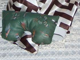 Peppermint and Lavender scented fishing lure print eye pillow mask - small size