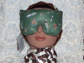 Peppermint and Lavender scented fishing lure print eye pillow mask - large size