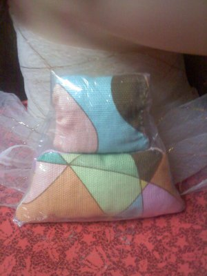 multi color sachets with lavender inside