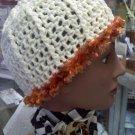 Cream and Copper Hand Crocheted designer hat