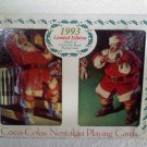 COCA COLA PLAYING CARDS COKE 2 DECKS IN SANTA TIN NIB 1993 GIFT SET -US Card Co.