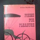 Poems for Pleasure by Evelyn MacPherson (1970 Hardcover) Trumbull County, Ohio