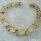 1967 vintage Sarah Coventry circle link bracelet in goldtone