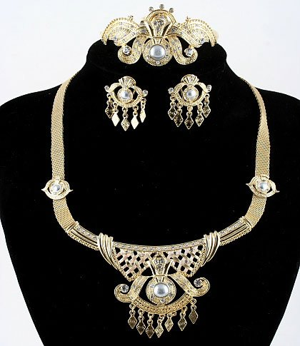 Necklace and Earrings and bracelet