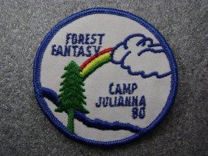 Girl Scout Camp Julianna 1980 Patch