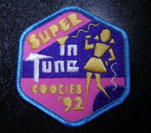 Girl Scout Patch - Super In Tune Cookies 1992