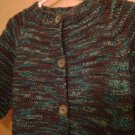 Baby Cardigan Sweater - Blue-Green Variegated