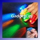 4x Color LED Bright Finger Ring Lights Rave Party Glow - FREE SHIPPING