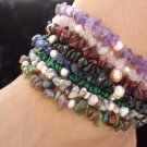 Gemstone & pearl anklet - choice of stone