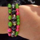 3 strand 'watermelon' bracelet