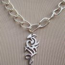SILVER TRIBAL PENDANT ON CHAIN
