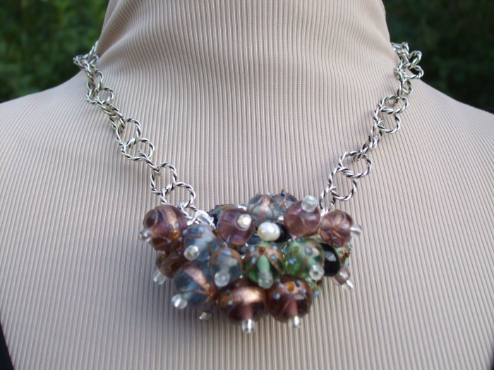 Fall Cluster statement necklace