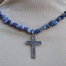 Sodalite Cross Necklace