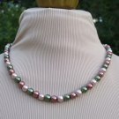3 Tone Pearl Necklace