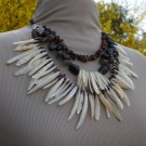 'Godess of the Amazon' Mother of Pearl & Stone Necklace