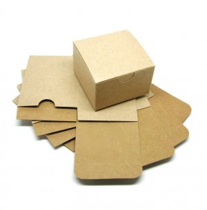 (10) 3 x 3 x 2 Blank Kraft Gift Boxes
