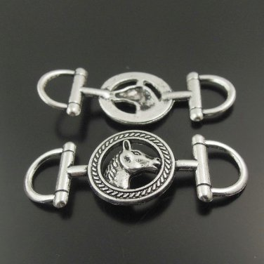 Silver Equestrian Horse Connector Findings � 5 Pieces