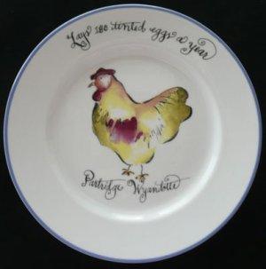 Chicken Hen Dessert Plates Set of4