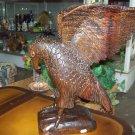 Wooden Sculpture, Eagle in Flight