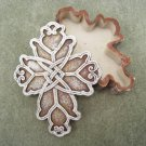 Ceramic Budded Cross Keepsake Box Rosary Gift Trinket