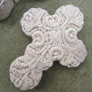 Ceramic Cross Keepsake Box Rosary Gift Trinket Jewelry