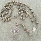 Dalmatian Jasper Gemstone Rosary 8mm beads