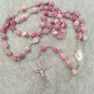 Matta Fire Agate gemstone Rosary 8mm beads