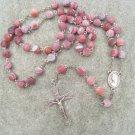 Matta Fire Agate gemstone Rosary 8mm beads