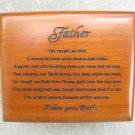 Fathers Prayer, Wooden Prayer Box Keepsake Gift Jewelry Fathers Day