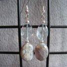 Aqua Terra Jasper Aqua Quartz Dangle Ear Rings