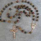 Chinese Writing Stone gemstone Rosary 8mm beads