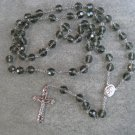 Green Faceted Crystal Rosary 10mm beads