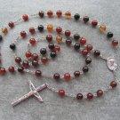 Zebra Onyx Gemstone Rosary 8mm beads