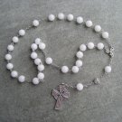 White Marble gemstone Anglican Rosary 8mm beads